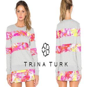 trina turk orchid print sweatshirt